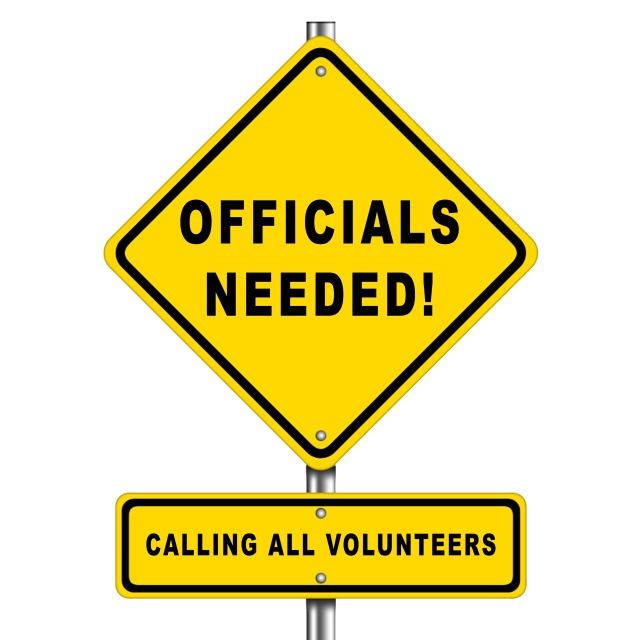 Officials needed - calling all volunteers