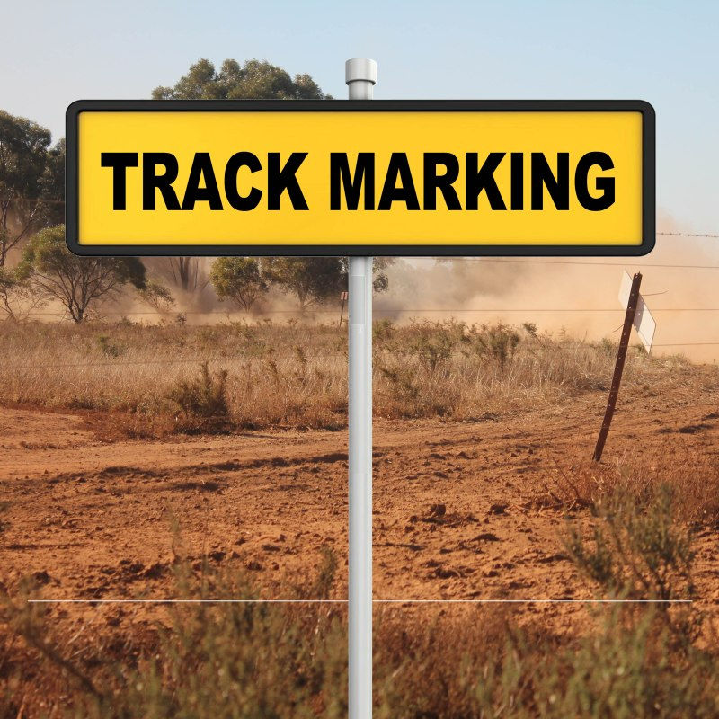 Track Marking Sign