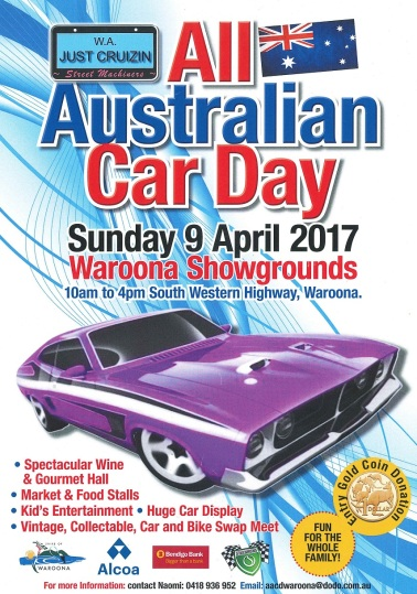 All Australian Car Day Waroona Poster