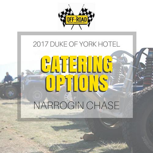 2017 WAORRA Narrogin Chase Catering Options